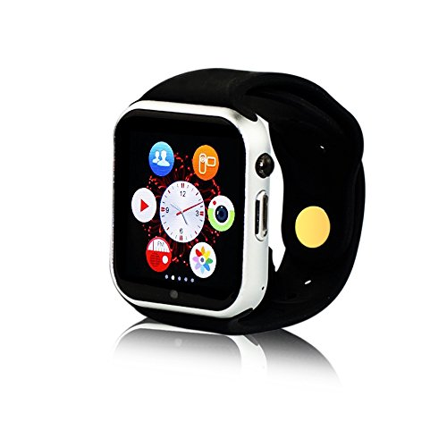 Yuntab-K9-Smartwatch-Smart-Watch-Wrist-Wrap-Bluetooth-30-Watch-Phone-for-IOS-Apple-Iphone-44s55c5s-66-Plus-Android-Samsung-S2s3s4s5note-2note-3-HTC-with-pedometer-sleep-monitor-fuctionSilver