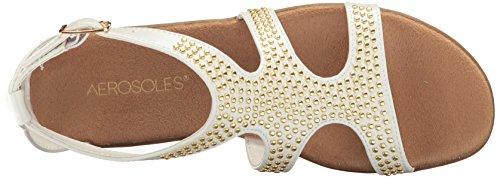 Aerosoles Women's Swim Chlub Gladiator Sandal White E9Zzn8q