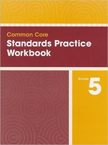 COMMON CORE STANDARDS PRACTICE WORKBOOK GRADE 5: Scott