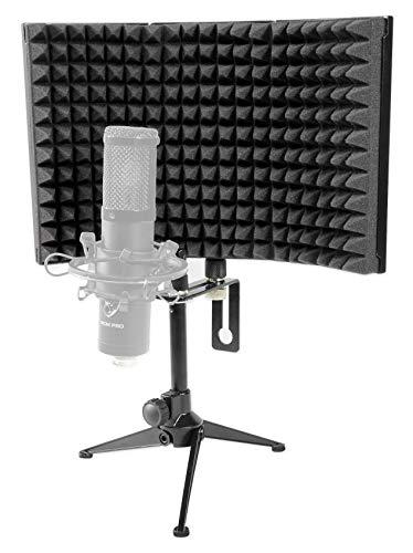 Rockville RockShield 1 Studio Microphone Isolation Shield w/Sound Dampening Foam (Best Vocal Booth Dimensions)