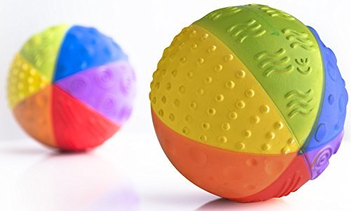 Natural Rubber Sensory Ball in Rainbow