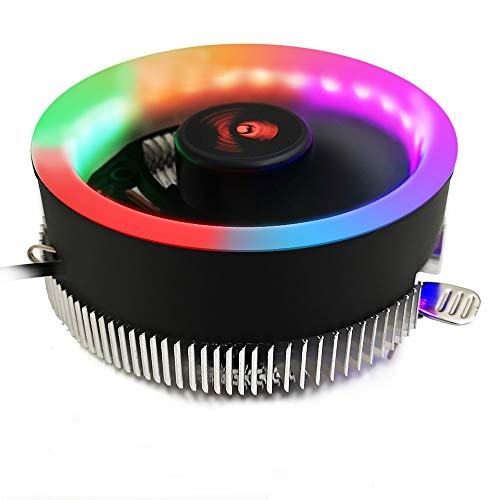 EYKELZGG Desktop Computer CPU Radiator Fan, Color Luminous General CPU Fan