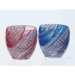 Edo-kiriko (Sake Glass) Pair Set #2591