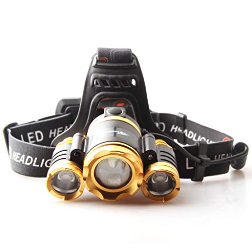 M-zmsdt Linterna con LED más brillante de 6000 lúmenes - LED MEJORADA, linternas recargables con faro 18650, luz de casco a...