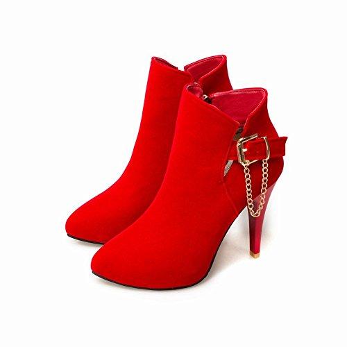 elegante tacón y para vestir mujer Botas de de de moda Carolbar con cremallera alto wq16gI1n