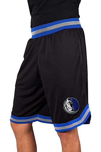 Ultra Game NBA Dallas Mavericks Men's Mesh Basketball Shorts Woven Active Basic, Medium, Black