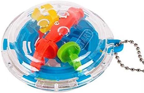 CamKpell 36 Barreras Mini Laberinto Esférico 3D Laberinto Mágico Puzzle de Juguete Llavero Cadena Giratoria Juguetes para Niños Llavero - Azul: Amazon.es: Juguetes y juegos