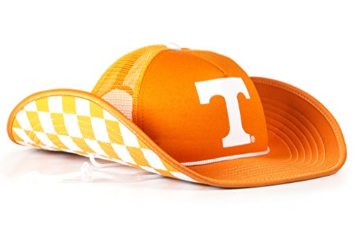 Checker Cap Hat - Cowbucker Collegiate Bucker Hat | Officially Licensed (OSFA, Tennessee Volunteers Check-er Out)