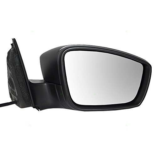 Passengers Manual Remote Side View Mirror Textured Replacement for Volkswagen Jetta & Hybrid 5C7857508J9B9