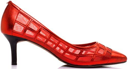 Punainen Naiset on 6cm Jtabi Tikari Avokkaat Toe Huomautti Calaier Slip fxPwzdqz7