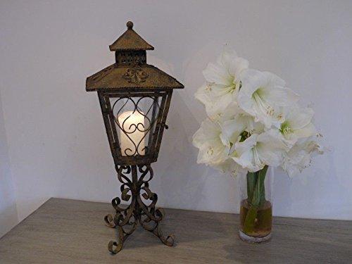 New French Antique Vintage Garden Candle Carriage Lantern Lamp Holder Large 66cm Giftwarez