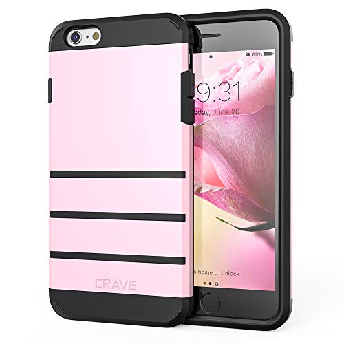 iPhone 6S Plus Case, iPhone 6 Plus Case, Crave Strong Guard Protection  Series Case for iPhone 6 / 6s Plus (5 5 Inch) - Pink