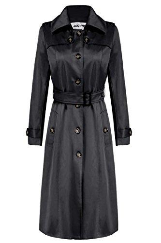 ANGVNS Womens Elegant Trench Jacket