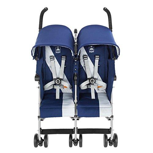Maclaren Twin Triumph Stroller Medieval Blue/Silver