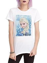 Disney Frozen Elsa Girls T-Shirt Size Small
