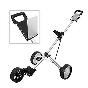 Golf Clubs & Equipment New Foldable 3 Wheel Push Pull Golf Cart Folding Trolley Three Wheels Swivel