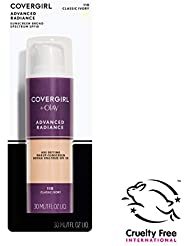 COVERGIRL Advanced Radiance Age Defying Liquid Foundation in Classic Ivory, 1 Bottle (1 oz), Hides Wrinkles & Lines, Sensitive Skin Safe (packaging may vary)