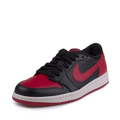 buy popular 1a753 f36f7 Galleon - Jordan Nike Mens Air 1 Retro Low OG Bred 1
