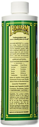 Fox Farm FX14092 Grow Big Liquid Concentrate Fertilizer, Soil NPK 6-4-4, 1-Pint