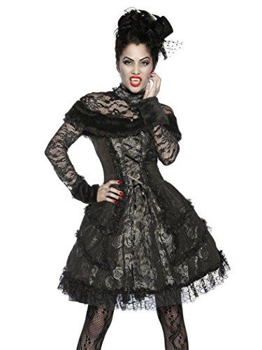 Armardi® Disfraz Negro Extravagante Vampiro Gris C CqZCrwgH
