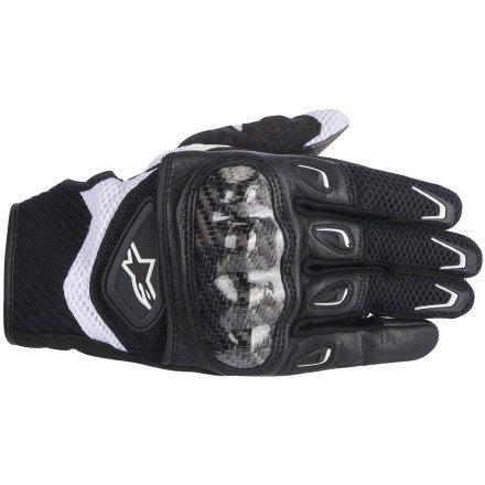 Alpinestars SMX-2 Air Carbon Women's Street Motorcycle Gloves - Black/Pink / Medium