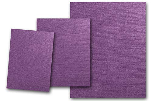 Premium DCS Canvas Textured Plum Purple Card Stock 80 Sheets - Matches Martha Stewart Plum - Great for Scrapbooking, Crafts, DIY Projects, Etc. (5 x 7)