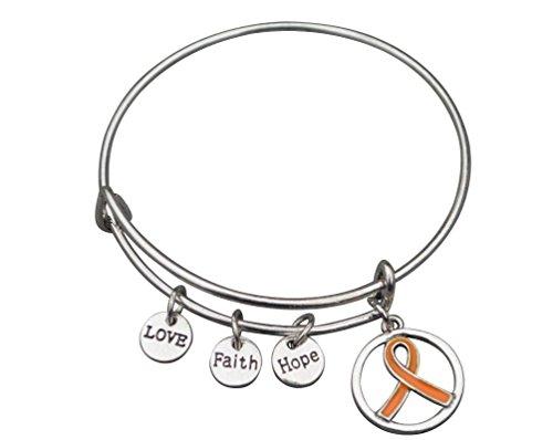 orange-ribbon-bracelet-leukemia-awareness-ms-awareness-self-injury-kidney-cancer-adhd-awareness-jewe