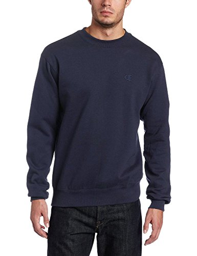 Champion Men's XL Pullover Eco Fleece Sweatshirt Navy
