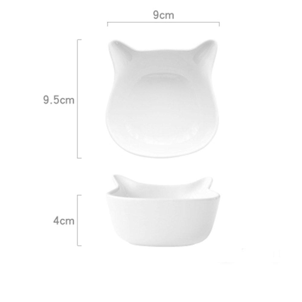 Cat Shape White Cartoon Fruit Snack Sauce Kids Bowl Icecream Bowl L