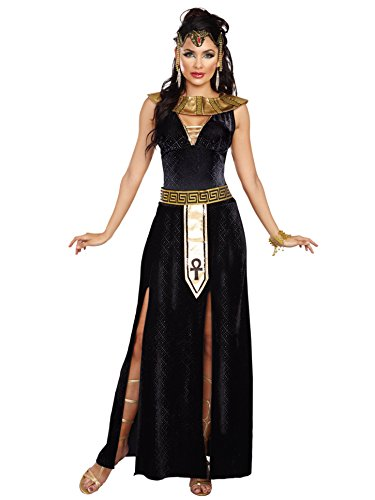 Women Costumes Cleopatra (Dreamgirl Women's Exquisite Cleopatra Costume, Black/Gold,)