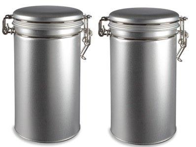 Nakpunar 2 pcs Airtight Tea Coffee Tins with (Wholesale Tin Containers)