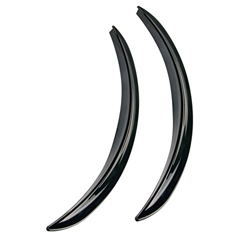 Hypersonic HP6193-3 Universal Wheel Arch Extensions//Mud Flaps Black