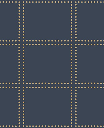 A-Street Prints 2697-22644 Gridlock Navy Geometric Wallpaper,