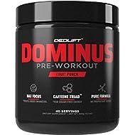 DEDLift Dominus Pre-Workout Powder, 40 Servings, Fruit Punch