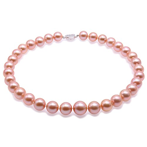 JYX Top-grade AAAAA 12-16mm Pink Freshwater Pearl Necklace 19'' by JYX Pearl