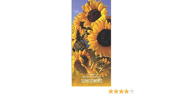 Sunflowers Perpetual Birthday Anniversary Calendar 5x11 ... Birthday Calendar