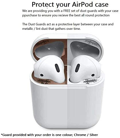 KWERKY COVERS Friends Hard Shell Apple AirPod 1 /& 2 Case with FREE Chrome Dust Guards Protective Clear There For You