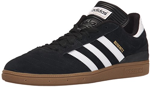 Adidas Men Skateboarding The Busenitz Sneaker Core Black, Ftwr White, Gold Met.