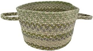 "product image for Capel Melange Green 0' 12"" Basket Braided Rug"