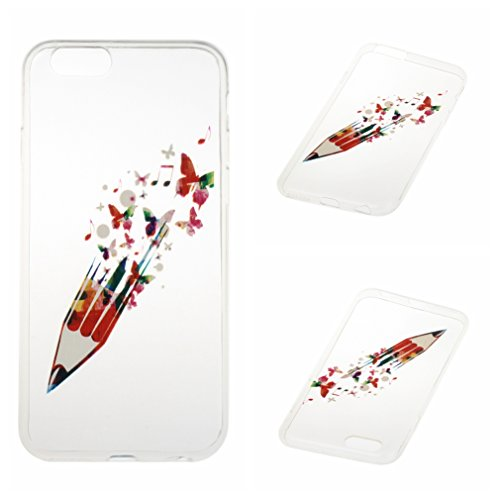 Voguecase® für Apple iPhone 6/6S 4.7 hülle, Schutzhülle / Case / Cover / Hülle / TPU Gel Skin (Bleistift 02) + Gratis Universal Eingabestift
