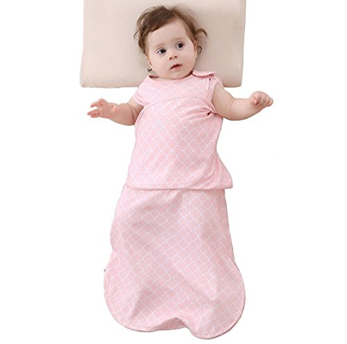 Enrich YLife Baby Cotton Sleeping Bag Swaddle Sack Wearable Blanket for Boys and Girls, 4 Season, 3-12 Months