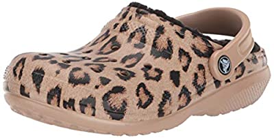 Crocs Women's Classic Printed Leopard Lined Clog