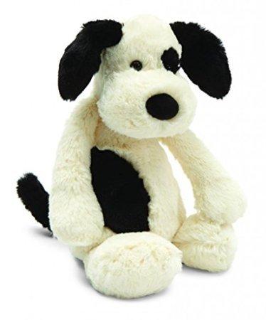 Jellycat? Bashful Black & Cream Puppy, Medium - 12'