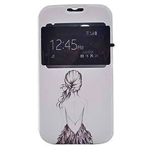 MOONCASE para Alcatel One Touch Pop C5 Funda Cover Carcasa Case Cuero Tapa