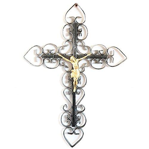 Crocifisso da parete in ferro battuto lavorato a Mano Cristo Gesù arterameferro