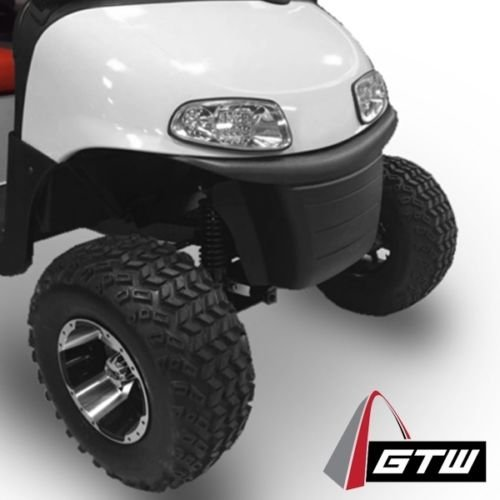 Golf Cart 12'' ''Diesel'' Machined and Black Wheel and 23 x 10.5-12 Golf Cart (6-PLY) ''X-Trail'' All Terrain Tire Combo- -+ GTW Quality Lift Kit Option ((2000.5+) EZGO TXT, Lift Kit) by Golf Cart King (Image #3)