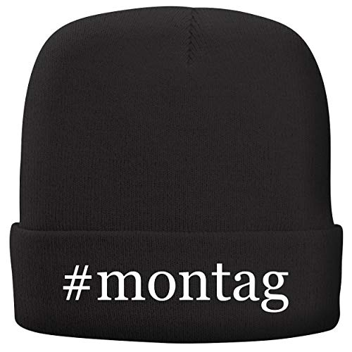 BH Cool Designs #Montag - Adult Hashtag Comfortable Fleece Lined Beanie, Black