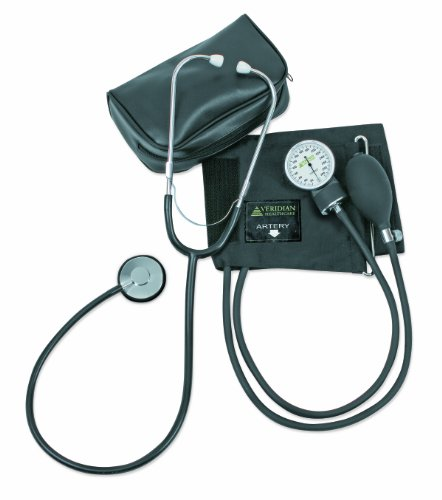 - Veridian 01-5521 Two-Party Home Blood Pressure Kit with Detached Nurse Stethoscope, Latex Free, Adult
