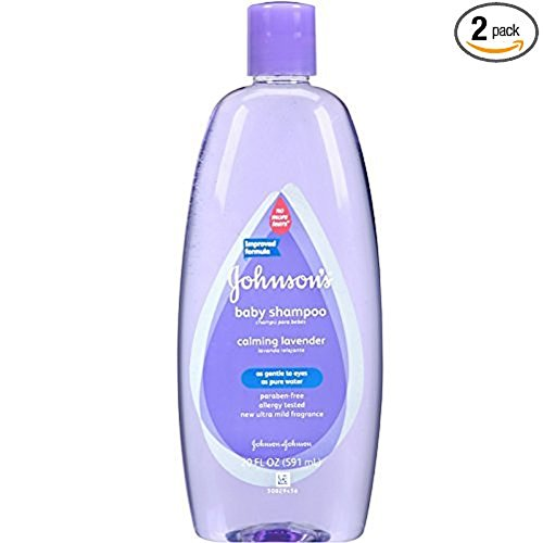 JOHNSON'S Baby Shampoo Calming Lavender (Two, 20 oz Bottles)