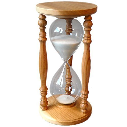 Orologio A Sabbia Ciliegio Orologio A Clessidra Rustico 60 min GlasDeko24